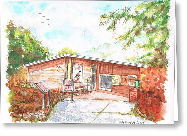 Sequoia National Park - Foothills Visitor Center - Califoernia Greeting Card by Carlos G Groppa