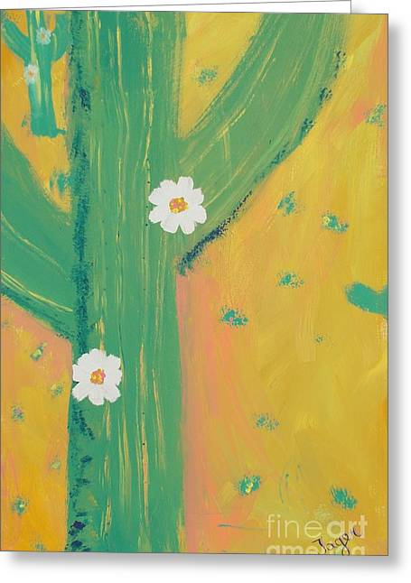 Greeting Card featuring the painting Sequoia by PainterArtist FINs daughter