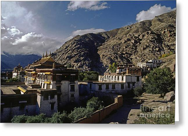 Sera Monastery Tibet Greeting Card by Craig Lovell