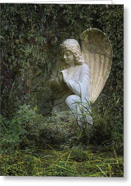 Seraphim Angel Garden Greeting Card by Ella Kaye Dickey