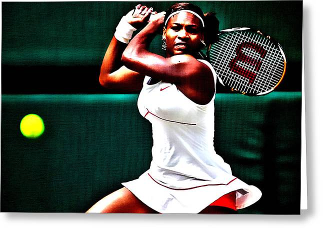 Serena Williams 3a Greeting Card by Brian Reaves