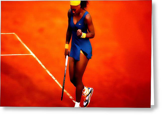 Serena Williams 4a Greeting Card