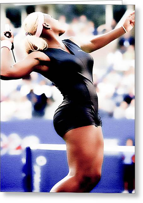 Serena Williams Catsuit Greeting Card by Brian Reaves