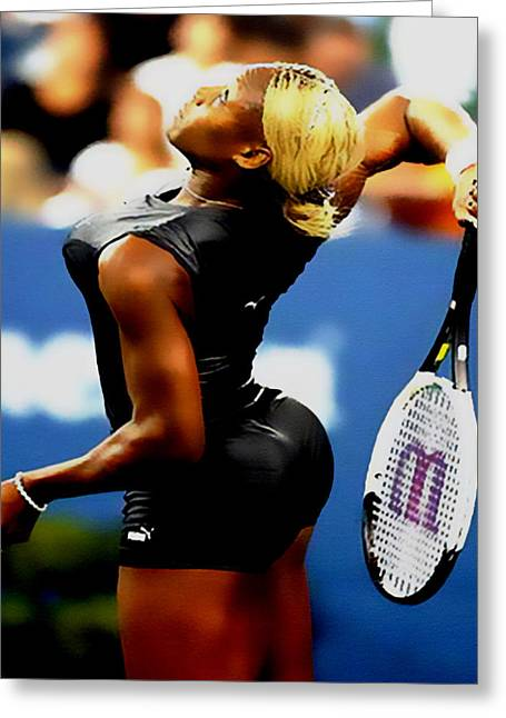 Serena Williams Catsuit II Greeting Card by Brian Reaves