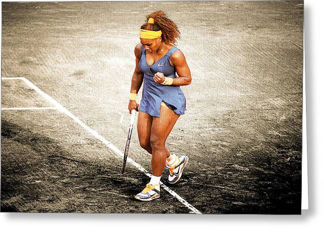 Serena Williams Count It Greeting Card by Brian Reaves