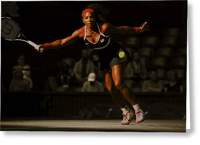 Serena Williams Grace Greeting Card by Brian Reaves