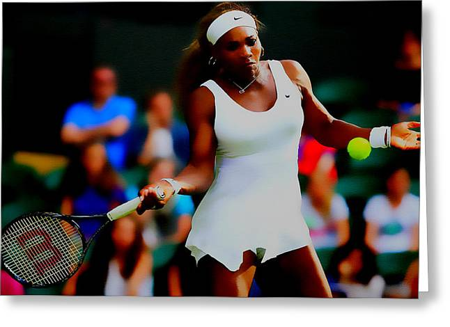 Serena Williams Making It Look Easy Greeting Card by Brian Reaves