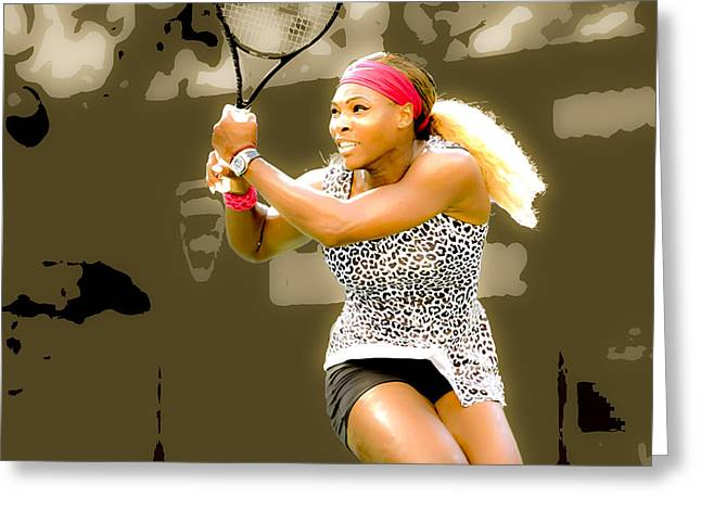 Serena Williams Standing Out Greeting Card by Brian Reaves