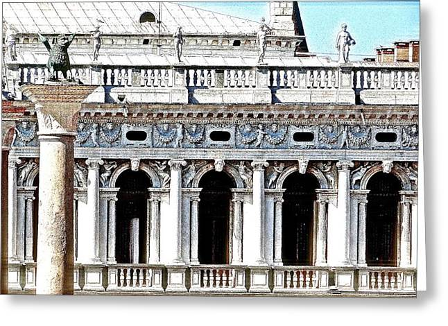 Serenade In Venice Greeting Card by Ira Shander