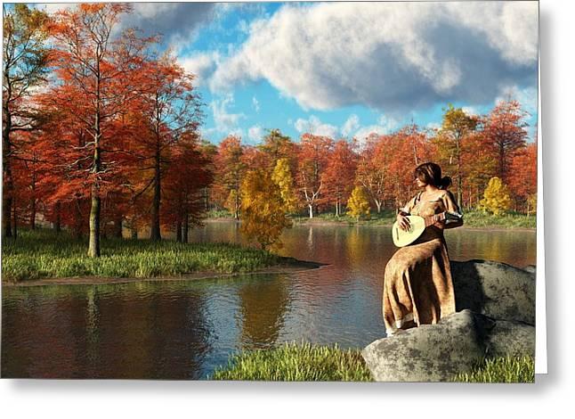 Serenading The Fall Greeting Card