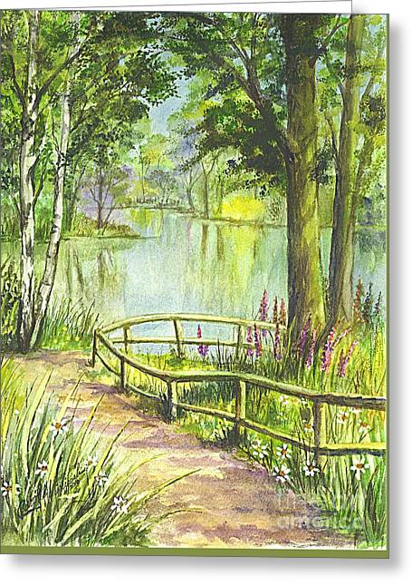 Greeting Card featuring the painting Serendipity Stroll by Carol Wisniewski