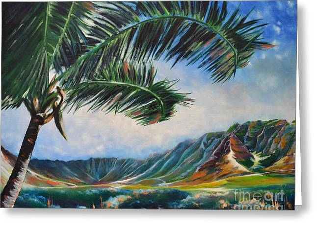 Serene Beauty Of Makua Valley Greeting Card