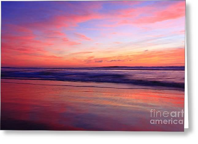 Serene Oceanside Glow Greeting Card