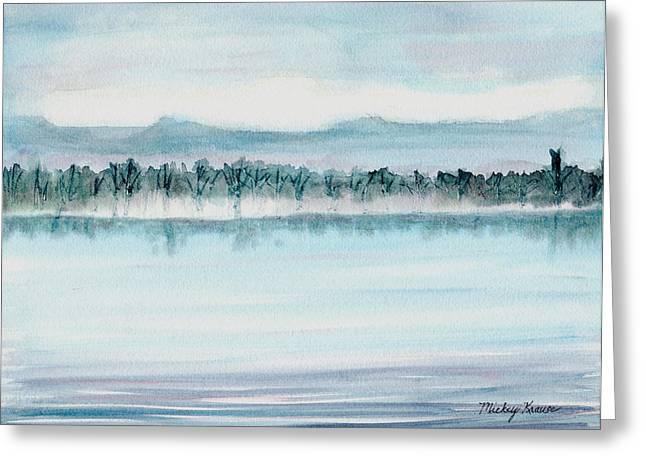 Serene Lake View Greeting Card by Mickey Krause