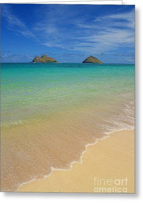 Serene Lanikai Beach Greeting Card