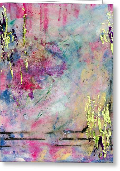 Serene Mist Encaustic Greeting Card