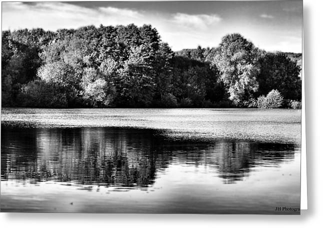 Serene Reflection Greeting Card by Jay Harrison