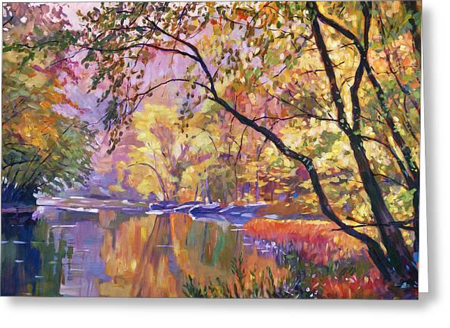 Serene Reflections Greeting Card by David Lloyd Glover