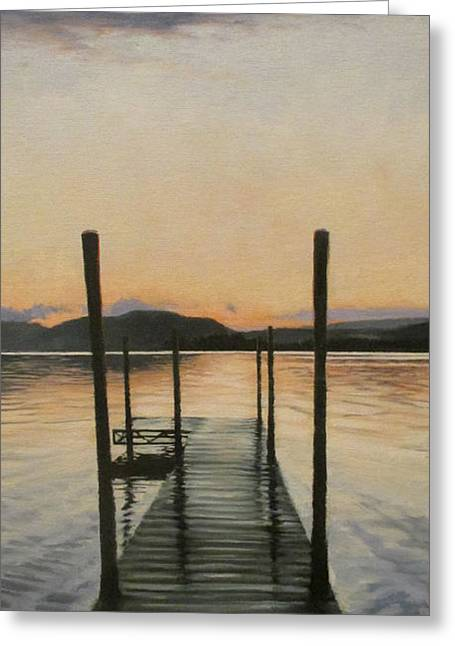 Serene Greeting Card by Ronald East
