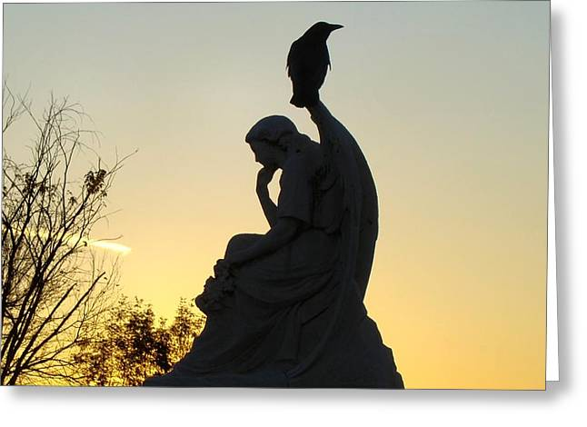 Serene Silhouette Greeting Card by Gothicrow Images