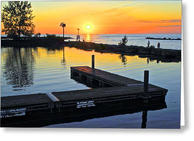 Serene Sunset Greeting Card by Frozen in Time Fine Art Photography