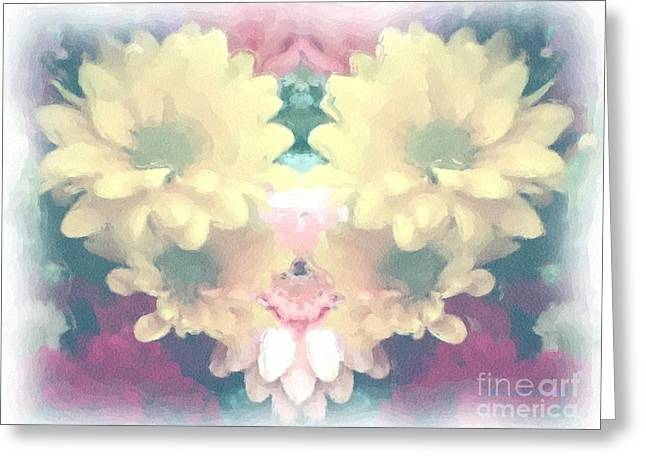 Greeting Card featuring the photograph Serene Zinnias by Luther Fine Art