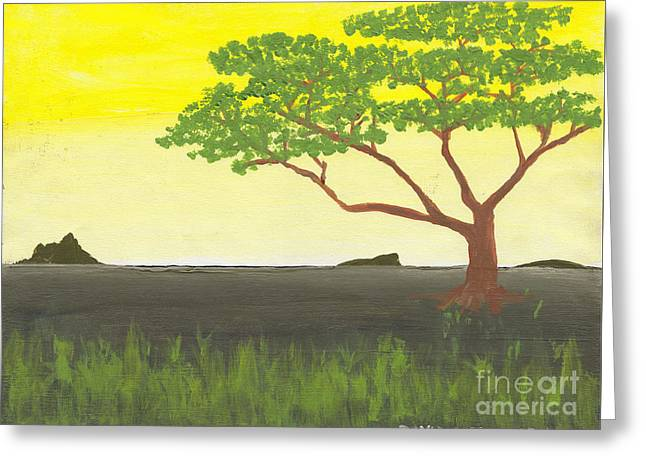 Greeting Card featuring the painting Serengeti by David Jackson