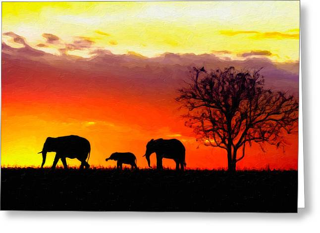 Serengeti Silhouette Greeting Card