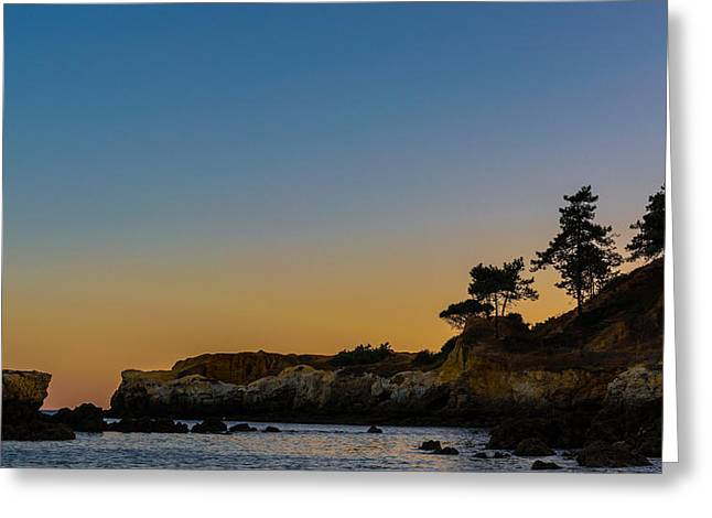 Serenity At Sunset Greeting Card by Marco Oliveira