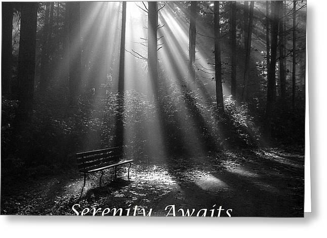 Serenity Awaits Greeting Card