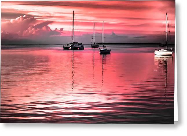 Serenity Bay Dreams Greeting Card by Karen Wiles