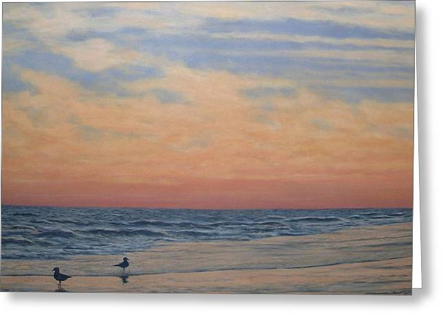Serenity - Dusk At The Shore Greeting Card by Kathleen McDermott