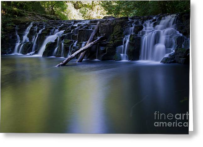Serenity Falls Greeting Card by Jackie Follett