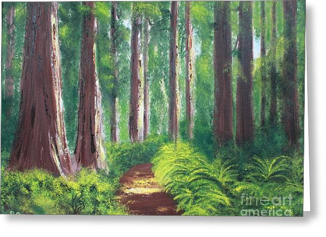Serenity Forest Greeting Card by Bev Conover