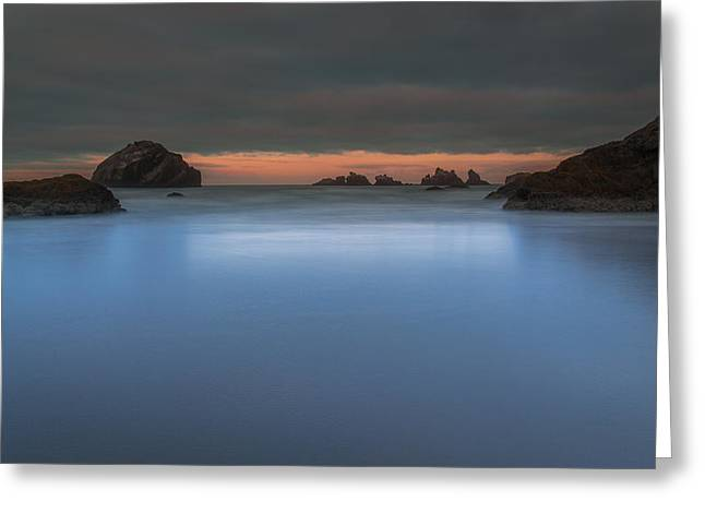Serenity In Blue.... Bandon Greeting Card by Tim Bryan