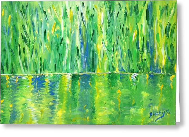 Serenity In Green Greeting Card