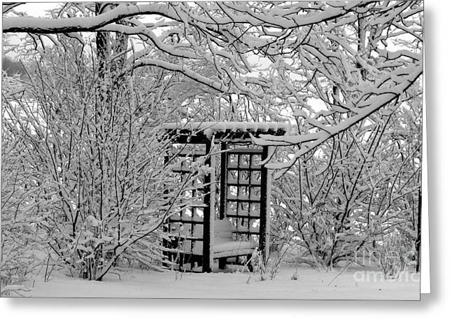 Serenity In Snow Greeting Card