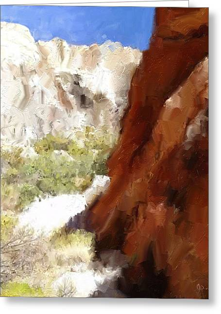 Serenity In The Desert Greeting Card by Jason  Donaire