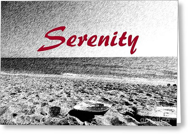 Serenity Greeting Card by Maggie Rodriguez