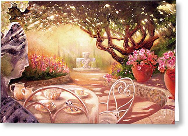 Greeting Card featuring the painting Serenity by Michael Rock