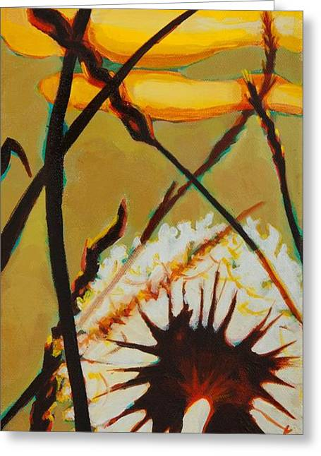 Greeting Card featuring the painting Serenity Of Light by Janet McDonald