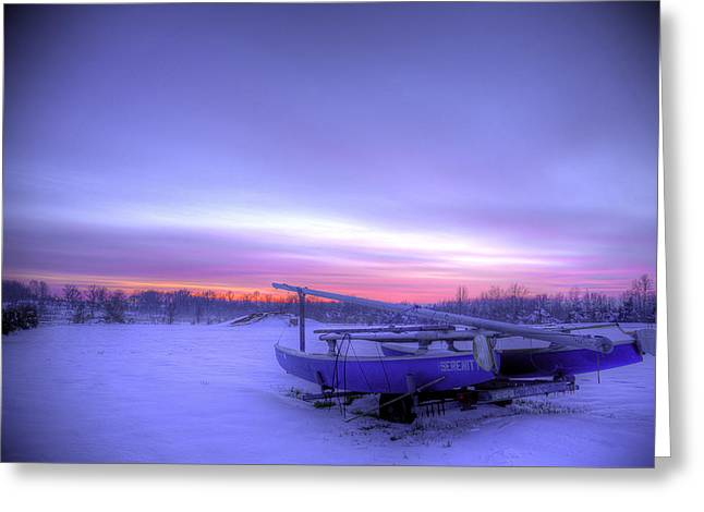 Greeting Card featuring the photograph Serenity On A Sea Of Snow by Micah Goff