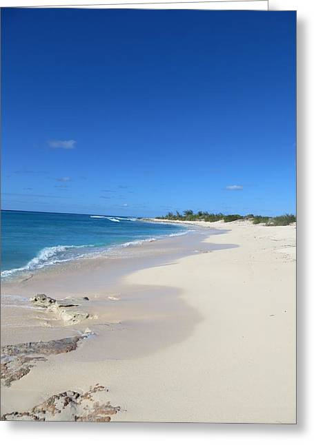 Greeting Card featuring the photograph Serenity On Grand Turk by Jean Marie Maggi