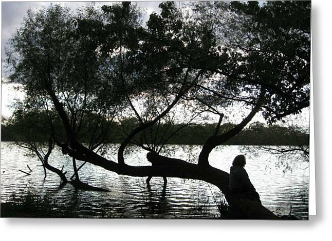 Greeting Card featuring the photograph Serenity On The River by Digital Art Cafe