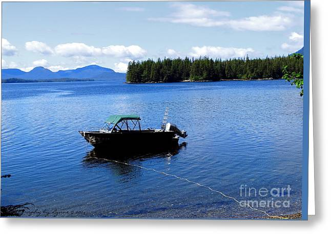 Serenity Outside Of Ketchikan Ak Greeting Card by Gena Weiser