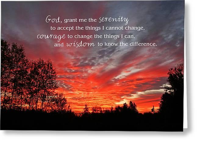 Serenity Prayer Greeting Card by Barbara West
