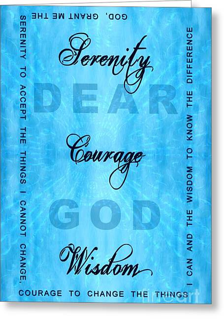 Serenity Prayer Dear God Greeting Card