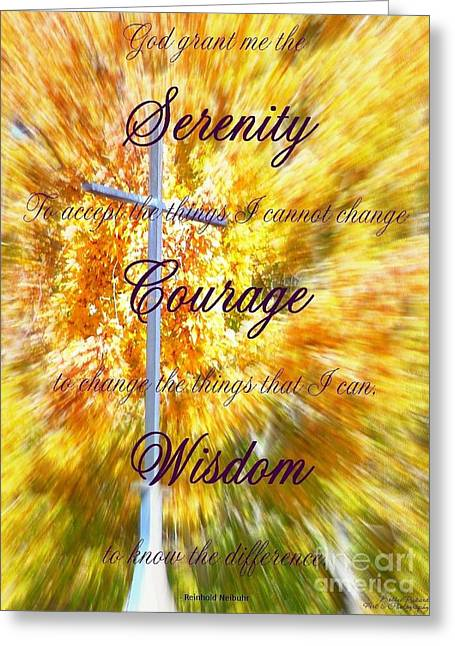 Serenity Prayer II By Bobbee Rickard Greeting Card by Bobbee Rickard