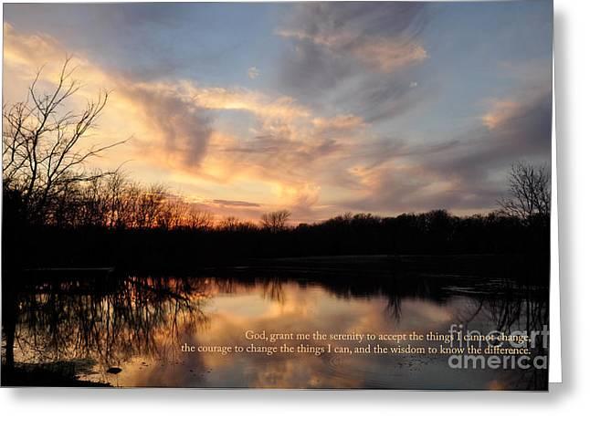 Serenity Prayer Quote Greeting Card
