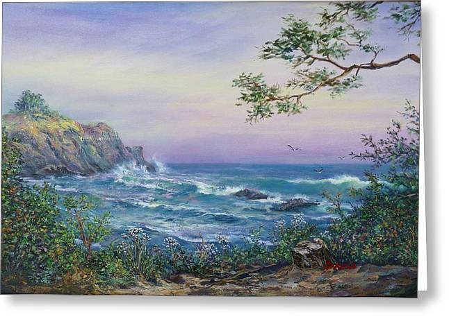 Serenity Seascape  Greeting Card by Gracia  Molloy